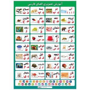 پوستر آموزشی اندیشه کهن مدل الفبای فارسی کد 780