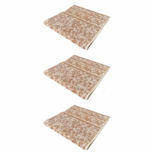 حوله دستی فرش مریم مدل Abr1 سایز 30x60 سانتی متر  بسته 3 عددی