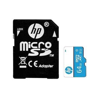 کارت حافظه microSDHC اچ پی مدل MX310 کلاس 10 استاندارد UHS-I U1 سرعت 100MBps ظرفیت 64 گیگابایت به همراه آداپتور SD