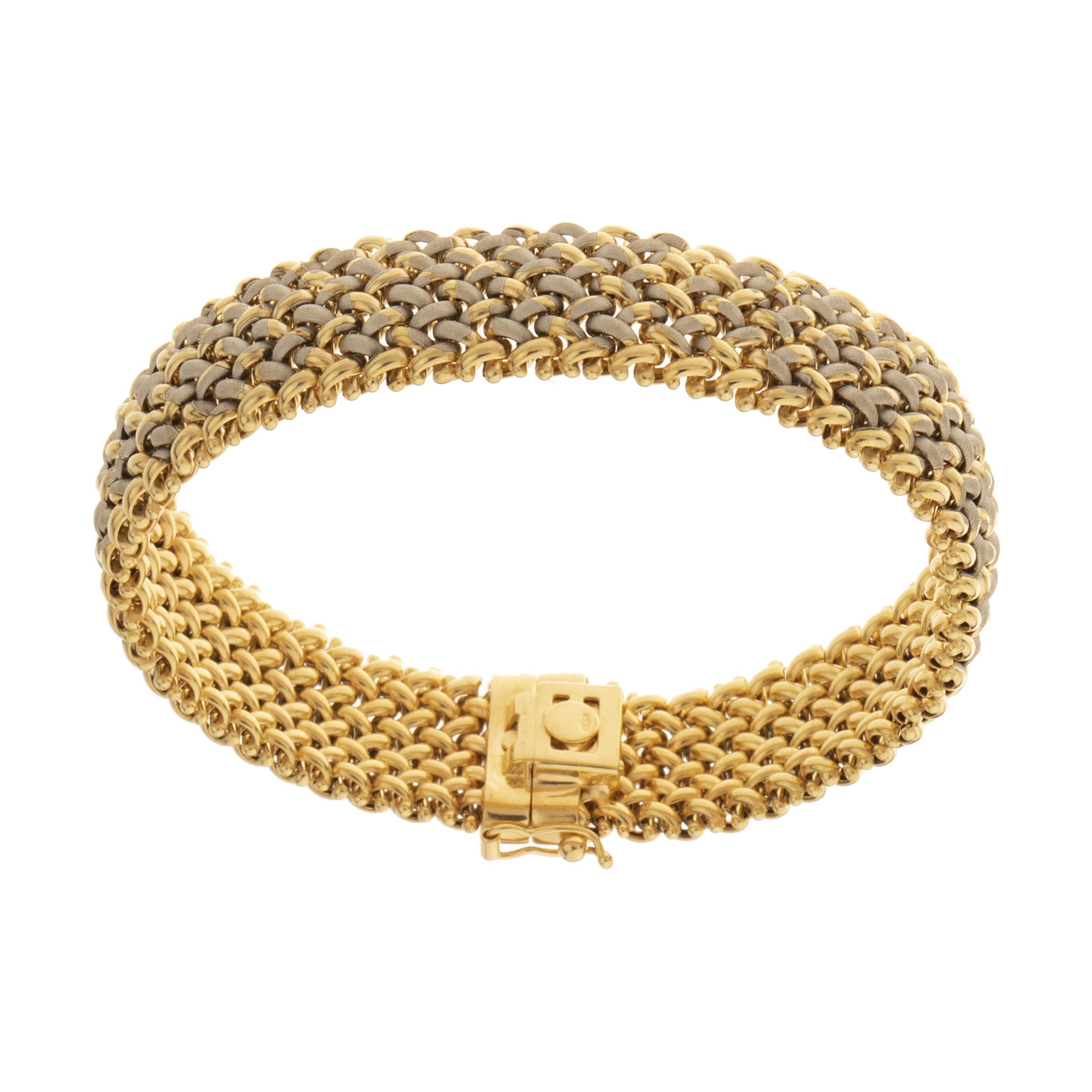 دستبند طلا 18 عیار زنانه مایا ماهک مدل MB1181