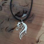 گردنبند نقره مردانه ترمه 1 طرح اسب کد mas 00145