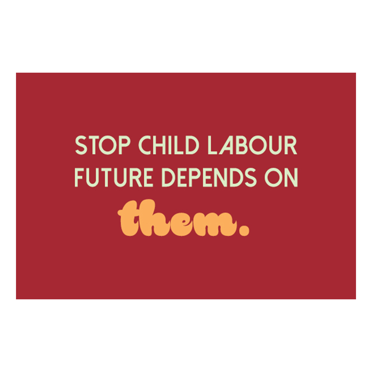 کارت پستال ماهتاب طرح روز مبارزه با کار کودکان کد 2425