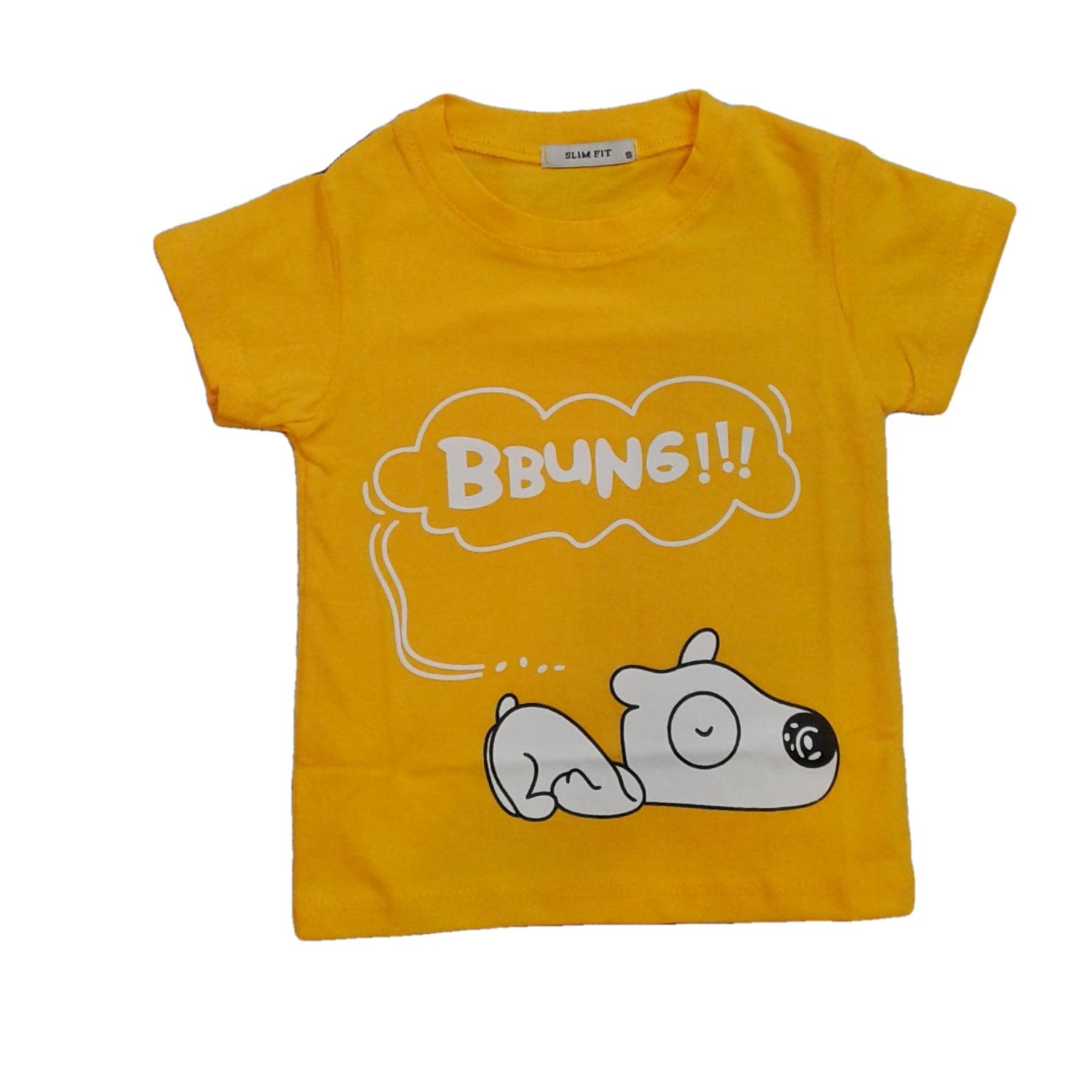 تی شرت آستین کوتاه بچگانه مدل هاپو کد H4