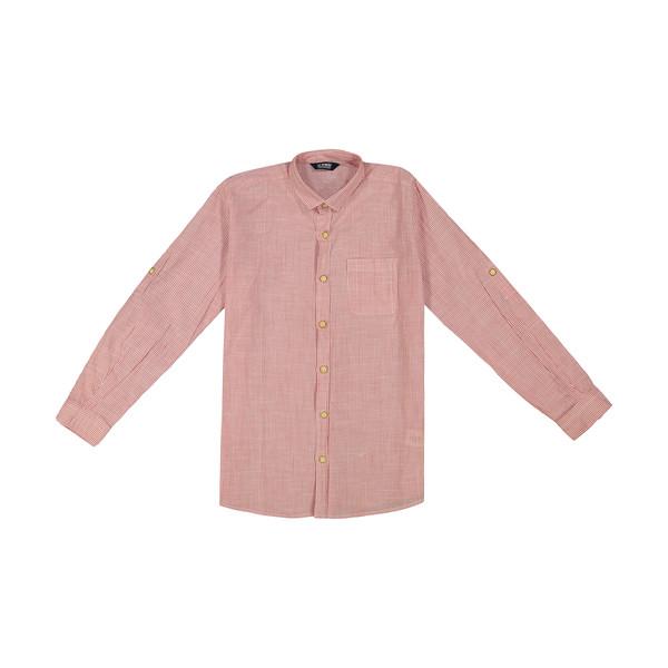 پیراهن پسرانه ال سی وایکیکی مدل 0SN645Z4-RED
