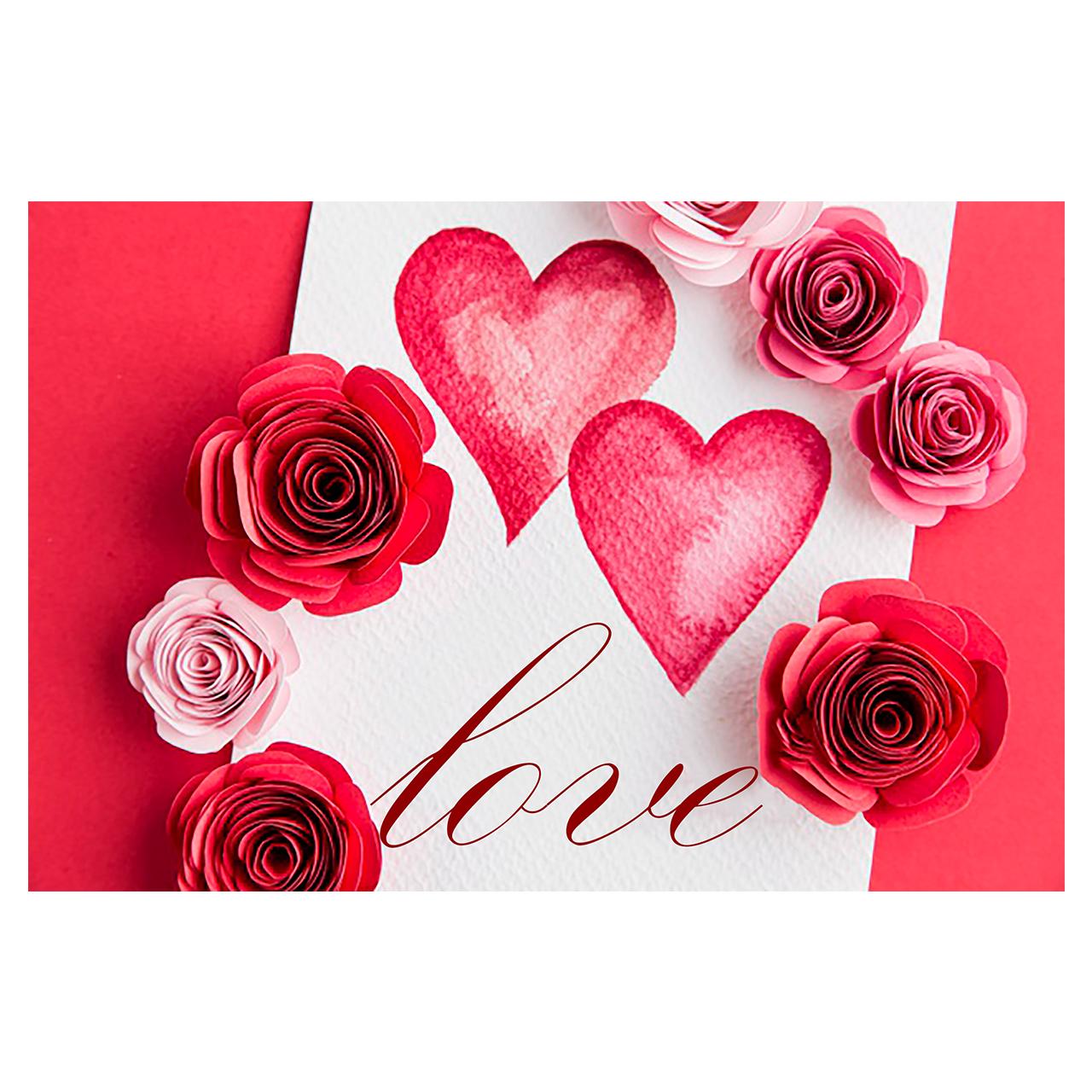 کارت پستال ماهتاب طرح love عشق قلب گل کد 1905