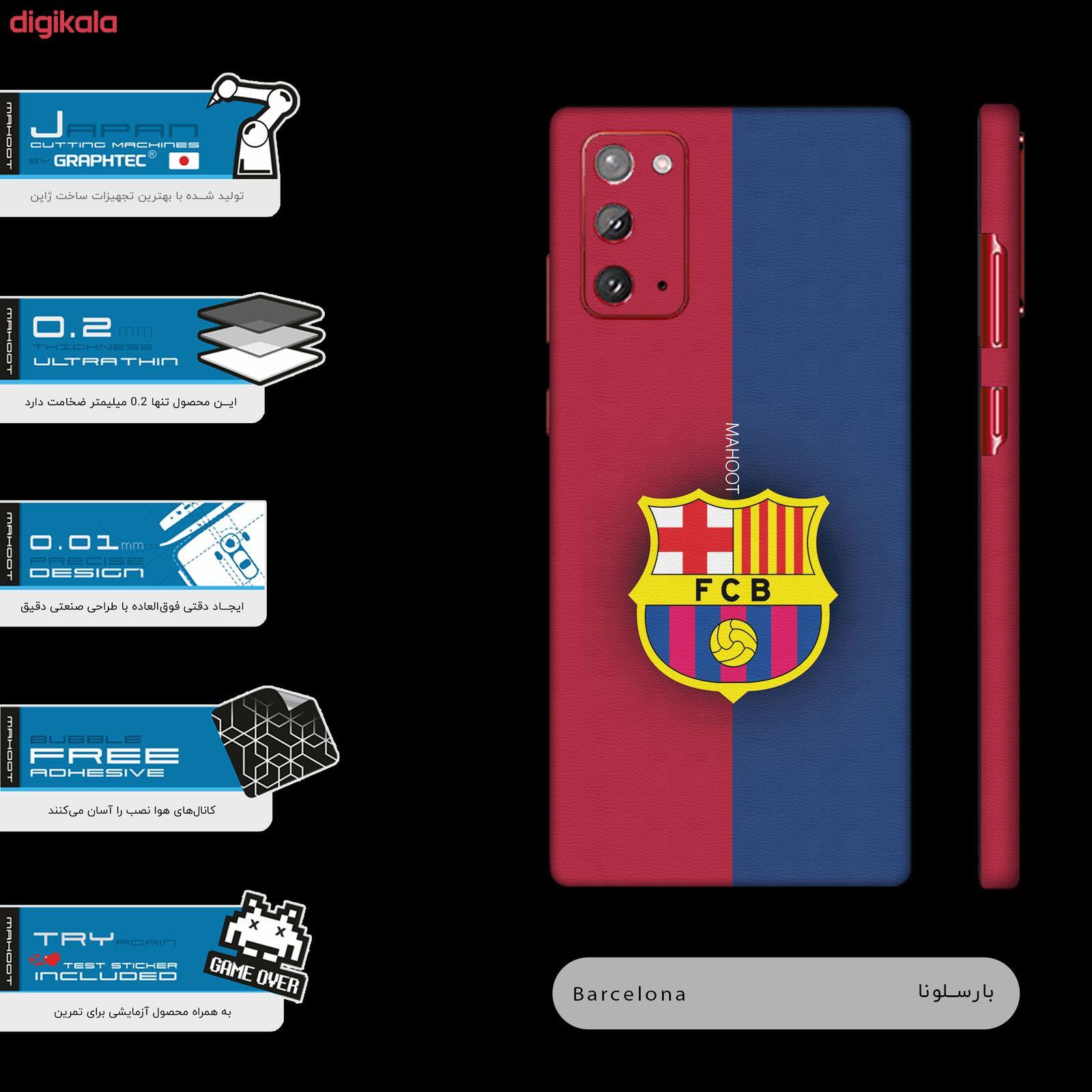 برچسب پوششی مدل BARCELONA-FC مناسب برای گوشی موبایل سامسونگ Galaxy Note20