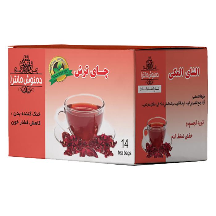 دمنوش چای ترش مانترا بسته 14 عددی