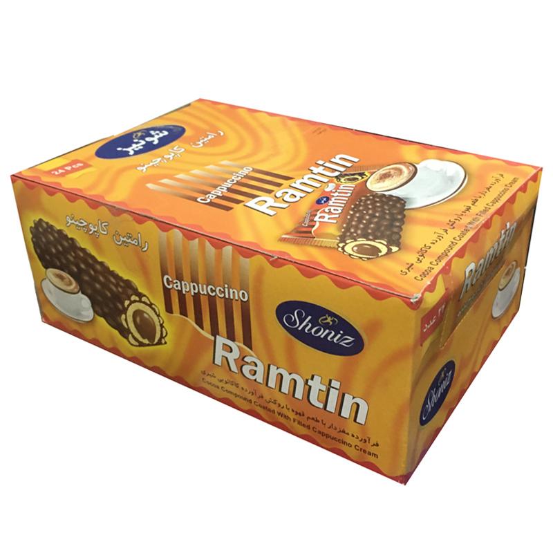 شکلات رامتین کاپوچینو شونیز - 19 گرم بسته 24 عددی