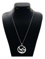 گردنبند نقره زنانه دلی جم طرح پرنده کد D 71 -  - 1