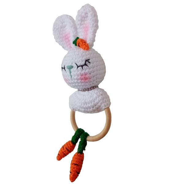 عروسک بافتنی مدل خرگوش دندونی کد N12