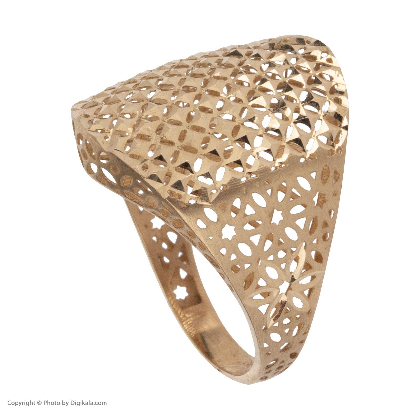 انگشتر طلا 18 عیار زنانه مایا ماهک مدل MR0378 -  - 4