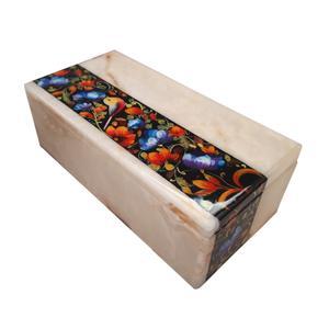 جعبه سنگ مرمر طرح گل و مرغ مدل EG0027