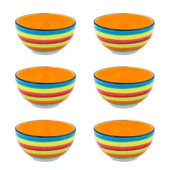 کاسه سرامیکی مدل آبگوشت خوری طرح رنگین کمانبسته ۶ عددی