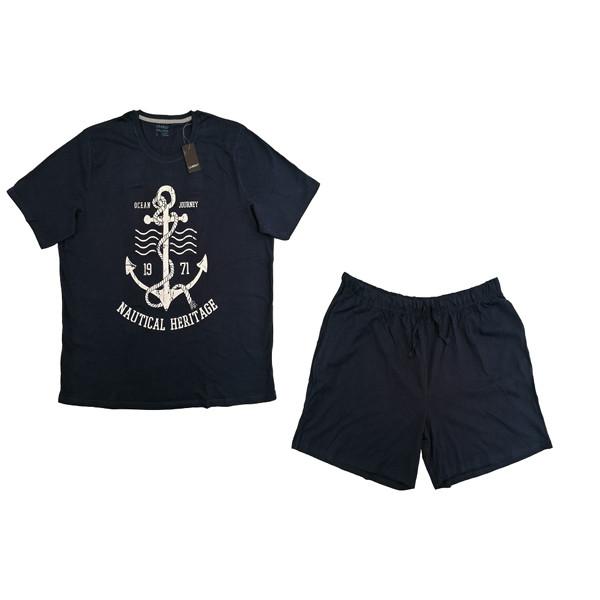 ست تی شرت و شلوارک مردانه لیورجی مدل 3444405
