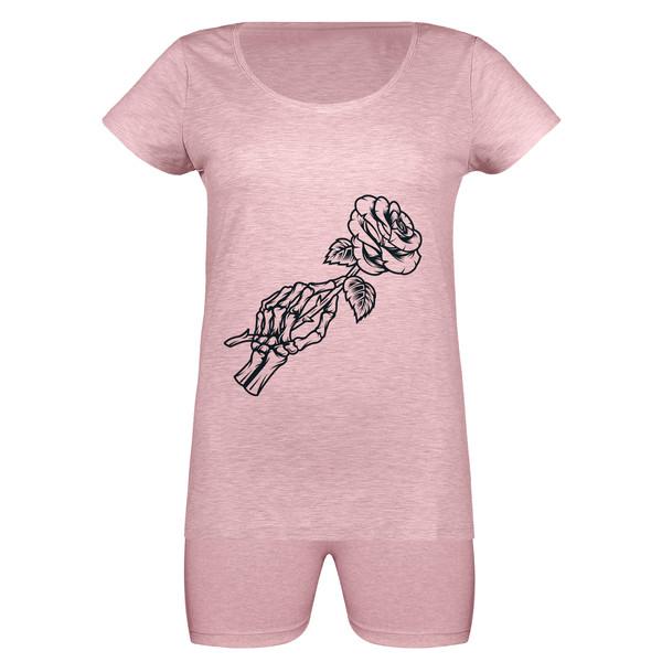 ست تی شرت و شلوارک زنانه مدل SKMSH991105-052