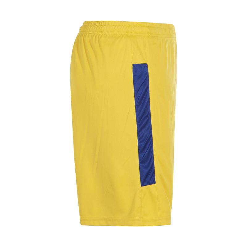 ست تی شرت و شلوارک ورزشی مردانه مکرون مدل کاناپوس رنگ زرد