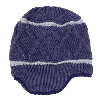 کلاه بافتنی پسرانه ونوس کد 93 رنگ سرمه ای