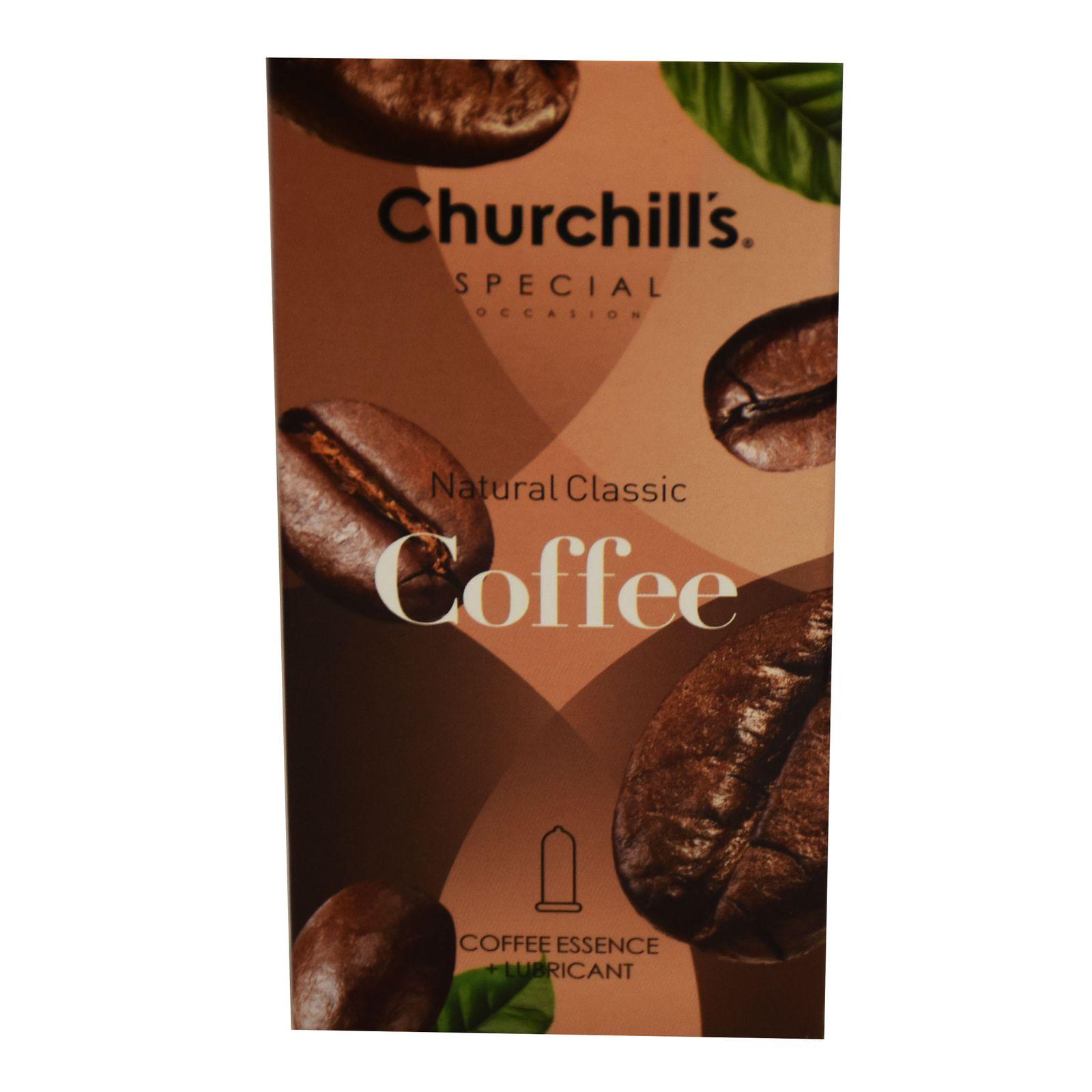 کاندوم چرچیلز مدل Natural Classic Coffee  بسته 12 عددی main 1 4