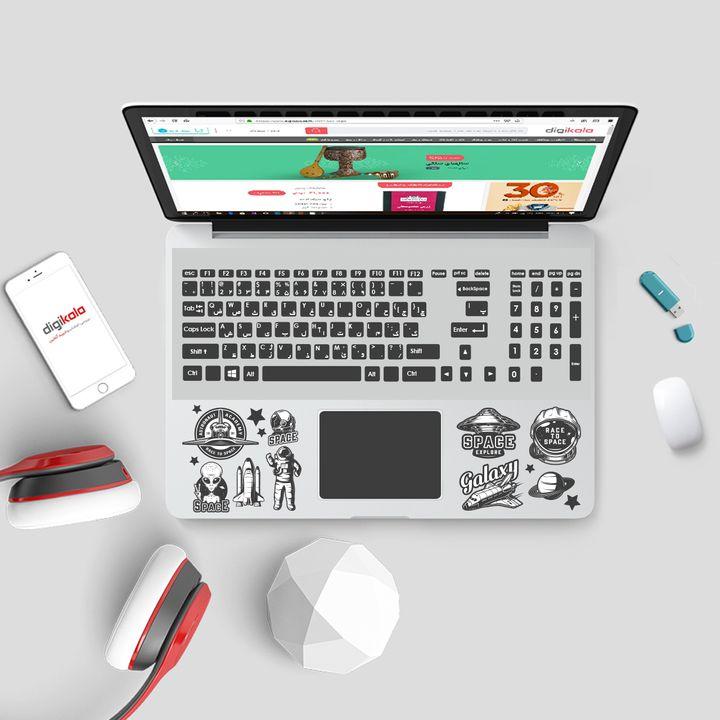 استیکر لپ تاپ صالسو آرت مدل 5083 hk به همراه برچسب حروف فارسی کیبورد thumb 2 2