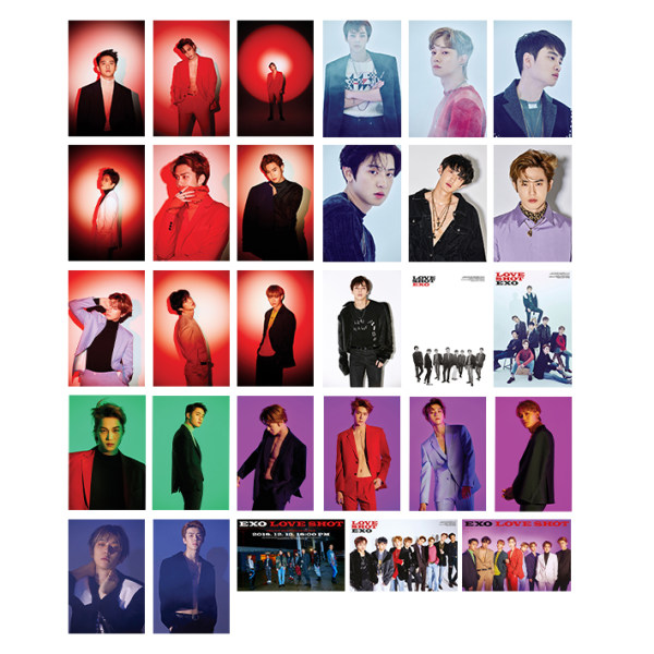 آویز تزیینی آبنبات رنگی طرح آلبوم EXO - Love shot کد PAK006 مجموعه 29 عددی