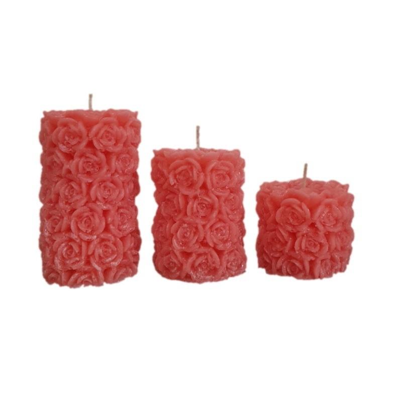 شمع مدل شمع مدل گل گلی Rw10 مجموعه سه عددی