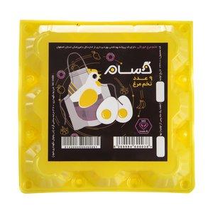 تخم مرغ حسام بسته 9 عددی