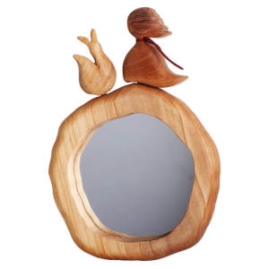 آینه چوبی کارکیا طرح شازده کوچولو کد W24