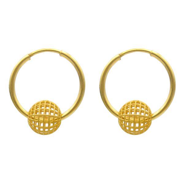 گوشواره طلا 18 عیار زنانه کاپانی مدلفیوژن کد KE019