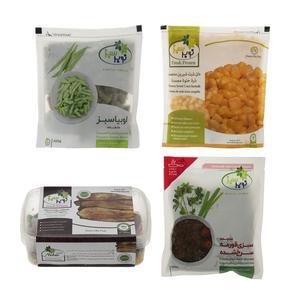 سبزیجات منجمد نوبر سبز - مجموعه 4 عددی