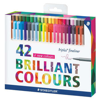 روان نویس استدلر کد 334C42 مدل Triplus Fineliner Brilliant Colours بسته 42 عددی