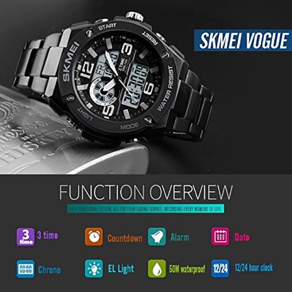 ساعت مچی دیجیتال مردانه اسکمی مدل S1333-BK
