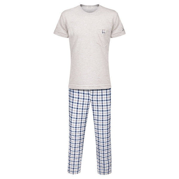 ست تی شرت و شلوار مردانه ساروک مدل STSHNJ110 -07 رنگ کرم