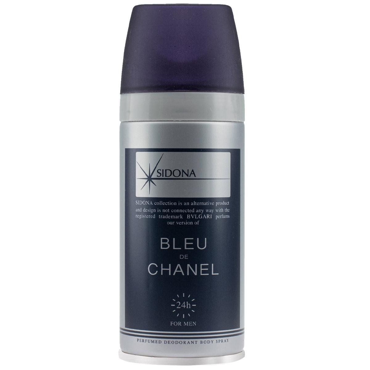اسپری خوشبو کننده بدن مردانه سیدونا مدل Blue de Chanel حجم 150 میلی لیتر
