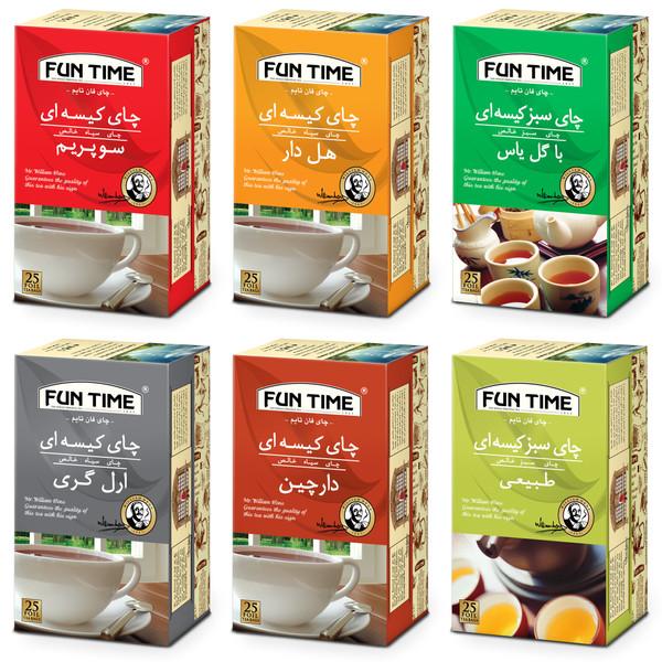 چای کیسه ای فان تایم - شش بسته 25 عددی