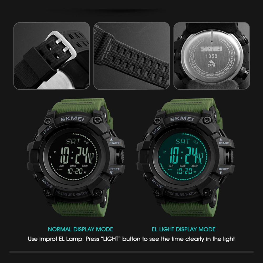 ساعت مچی دیجیتال مردانه اسکمی مدل T1358 -  - 7