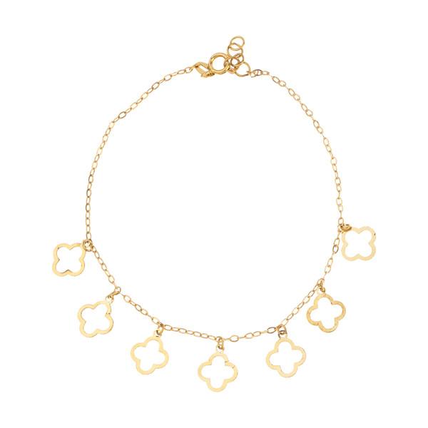 دستبند طلا 18 عیار زنانه میو گلد مدل GD1024