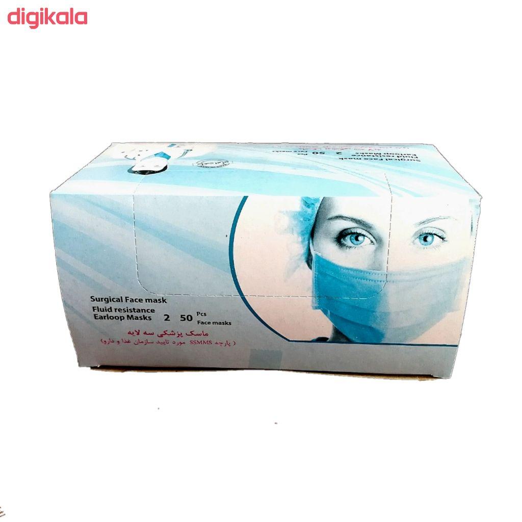 ماسک تنفسی وحدت مدل ملت بلون بسته 50 عددی main 1 7