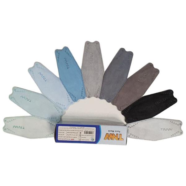 ماسک تنفسی تی ان دبلیو مدل سه بعدی چهار لایه بسته ۲۵ عددی