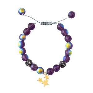 دستبند طلا 18 عیار دخترانه کرابو طرح سه ستاره مدل Krd1014