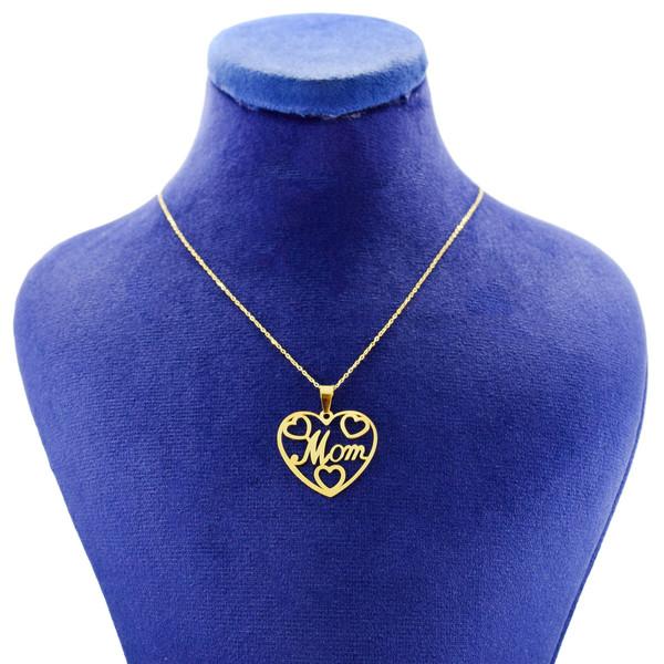 گردنبند طلا 18 عیار زنانه کانیار گالری طرح مادر مدل NE110