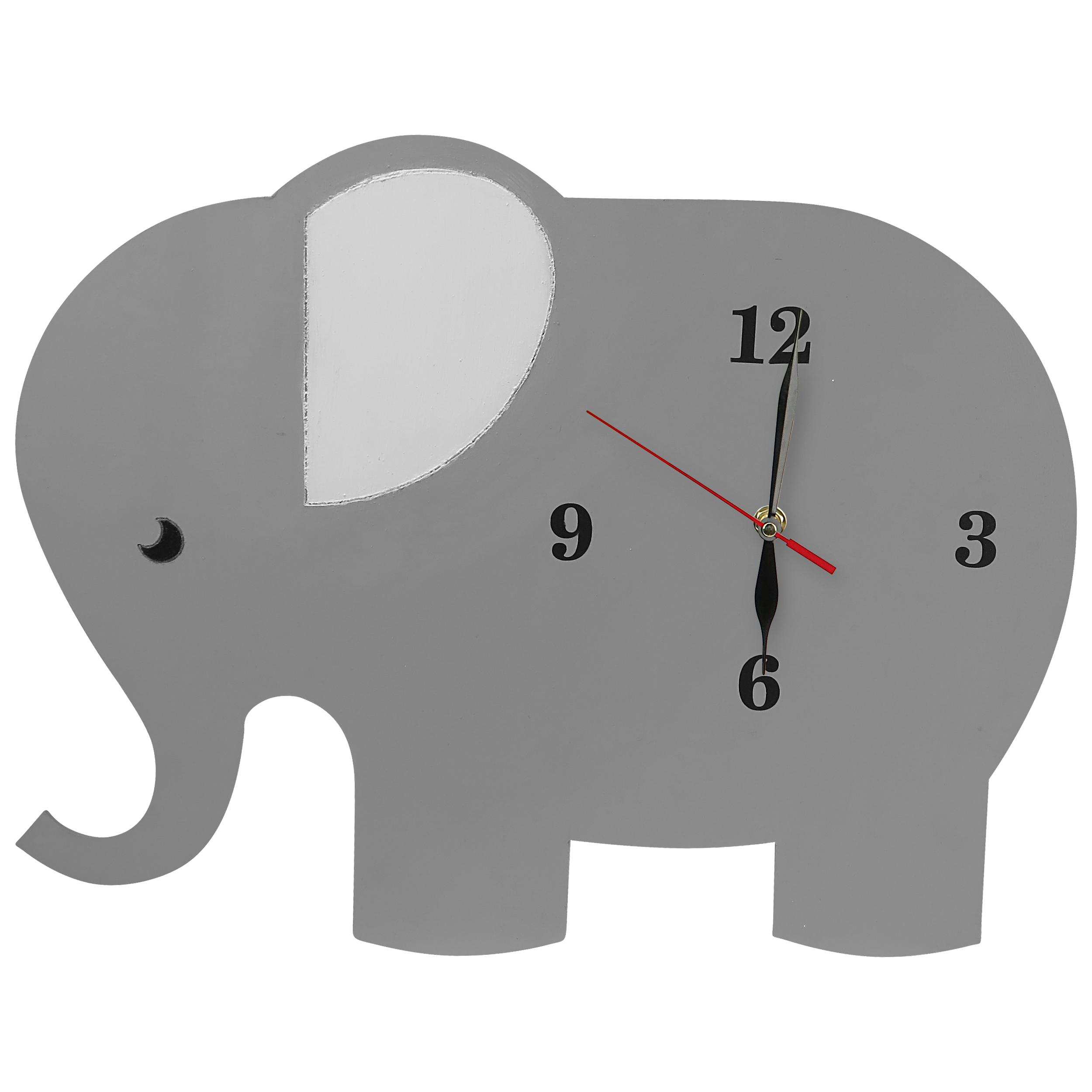 ساعت دیواری کودک مدل فیل