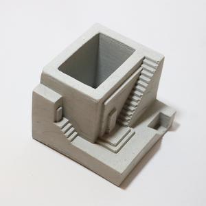 گلدان بتنی طرح ساختمان کد V06