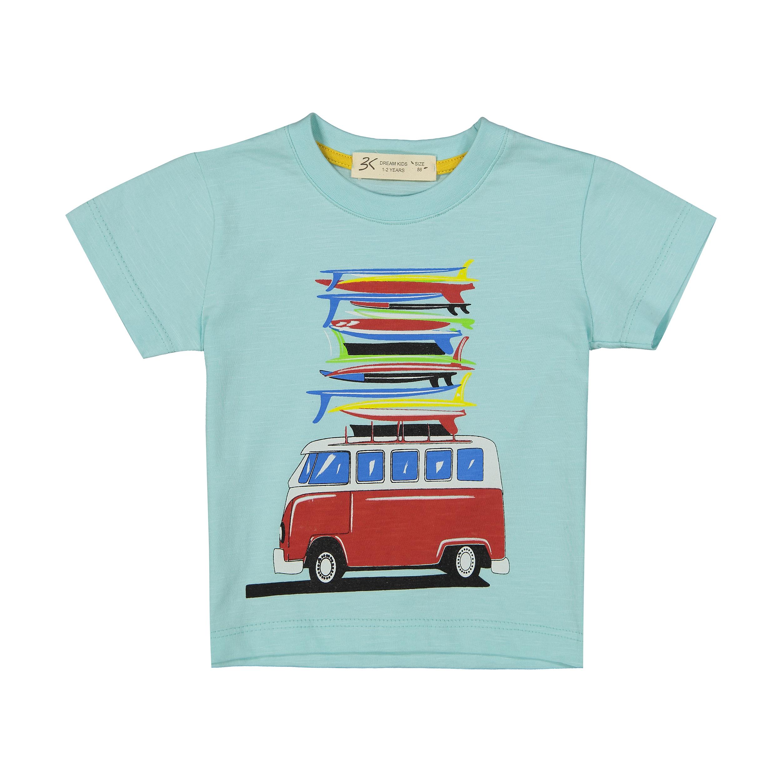 تی شرت نوزادی پسرانه بی کی مدل 2211124-51