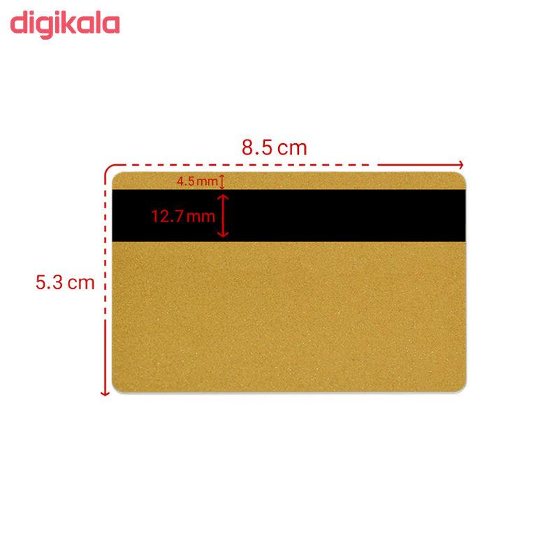 کارت مگنت پی وی سی طلایی کد 022 بسته 250 عددی main 1 1