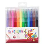 ماژیک رنگ آمیزی 12 رنگ یالونگ مدل قلم مو