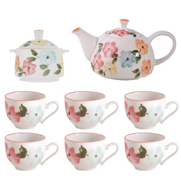 سرویس چای خوری 10 پارچه طرح بهار گل ها