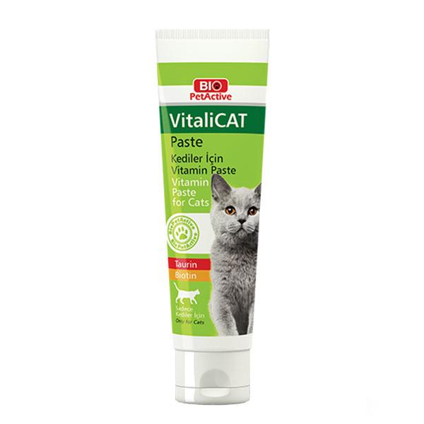 خرید                      مولتی ویتامین گربه بایو پت اکتیو مدل  VitaliCATPaste 9328 وزن 100گرم