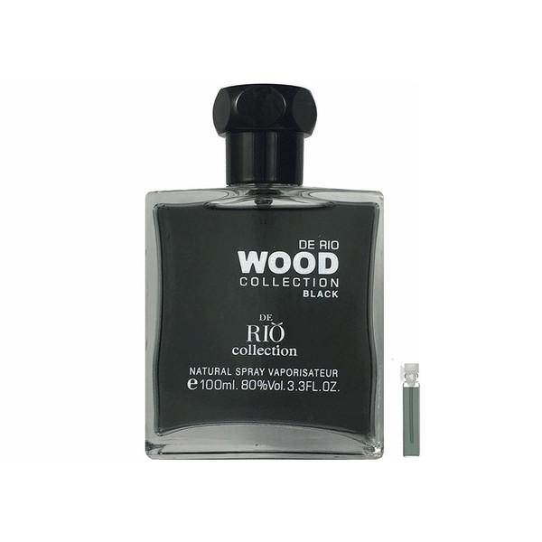 ادو پرفیوم مردانه ریو کالکشن مدل Rio Wood Black حجم 100 میلی لیتر به همراه عطر جیبی