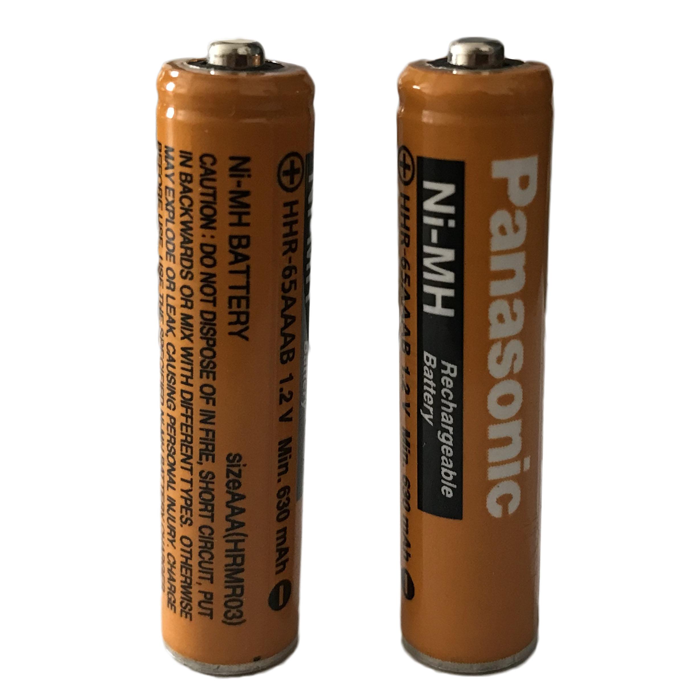 باتری نیم قلمی قابل شارژ تلفن بی سیم پاناسونیک مدل (Ni-MH/HHR-65AAAB(HRMR03 بسته دو عددی