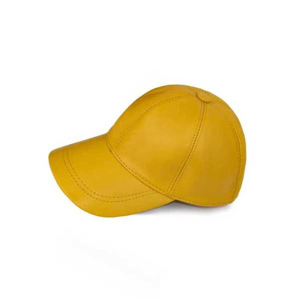 کلاه کپ چرم کروکو مدل sun